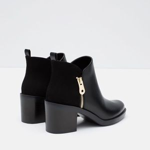 Zara Trafaluc Ankle Boots with Zip
